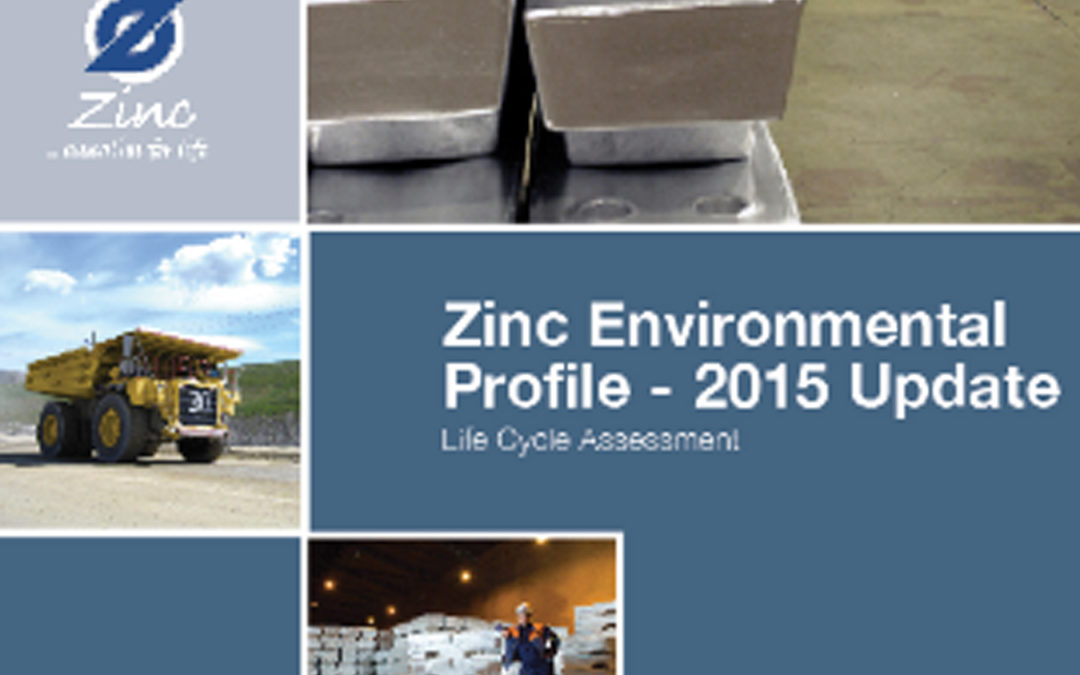 Zinc Environmental Profile – Life Cycle Assessment – 2015 Update
